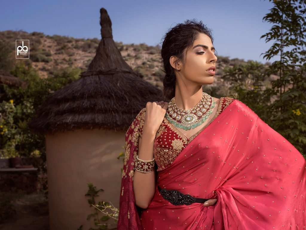 female model jewellery photoshoot
