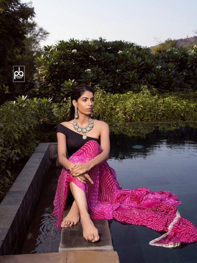 female jewellery model photo